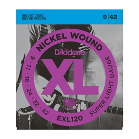D'Addario EXL120 - XL Nickel Wound 9-42