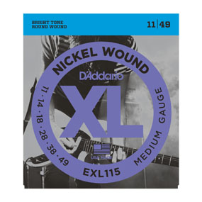 D'Addario EXL115 XL Nickel Wound 11-49